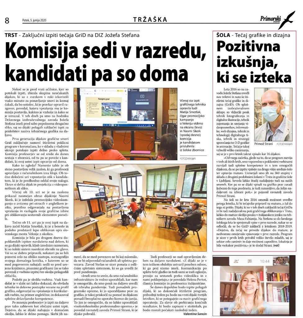 Jozef Stefan članek Primorski Dnevnik